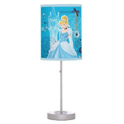 Table Lamp with Mixed Media Cinderella design