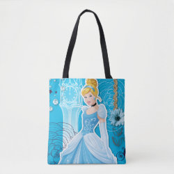 All-Over-Print Tote Bag, Medium with Mixed Media Cinderella design