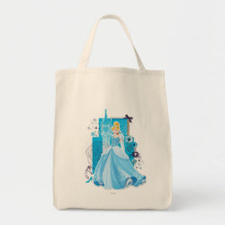 Grocery Tote with Mixed Media Cinderella design