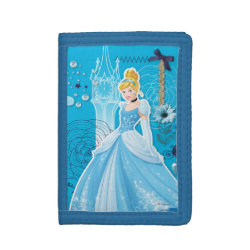 TriFold Nylon Wallet with Mixed Media Cinderella design