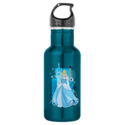 Water Bottle (24 oz) with Mixed Media Cinderella design
