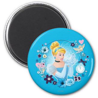 Cinderella - Gracious as a True Princess 2 Inch Round Magnet