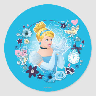 Cinderella - Gracious as a True Princess Classic Round Sticker