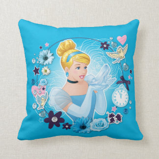 Cinderella - Gracious as a True Princess Throw Pillow