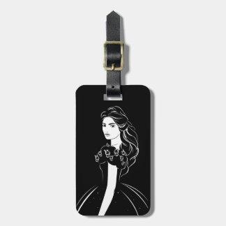 Cinderella Graphic on Black Bag Tag