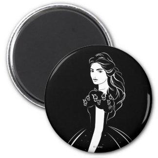 Cinderella Graphic on Black Magnet