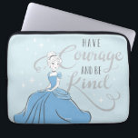 "Cinderella | Have Courage Computer Sleeve<br><div class=""desc"">Cinderella sitting in her blue dress next to the phrase &quot;Have courage and be kind&quot;.</div>"