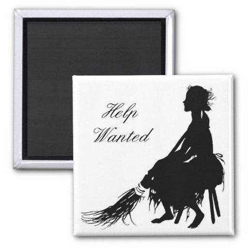 Cinderella Help Wanted Magnet