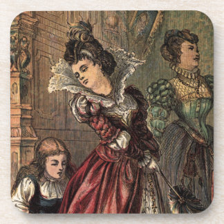 Cinderella Helping her Step-Sisters Coaster