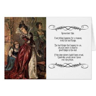Cinderella Helping her Step-Sisters Greeting Card