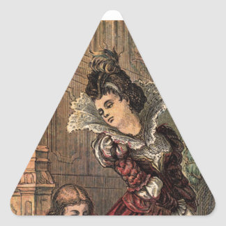 Cinderella Helping her Step-Sisters Triangle Sticker