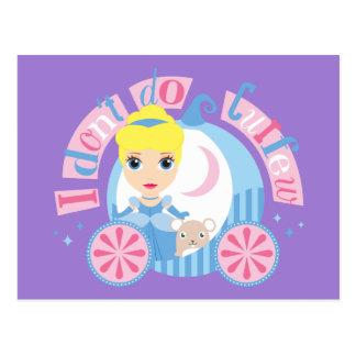 Cinderella   I Don't Do Curfew Postcard