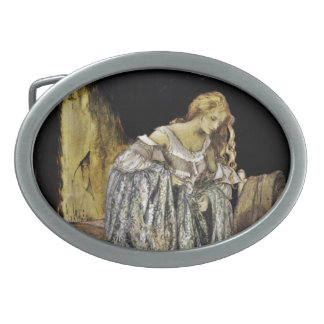 Cinderella in the Attic Oval Belt Buckles