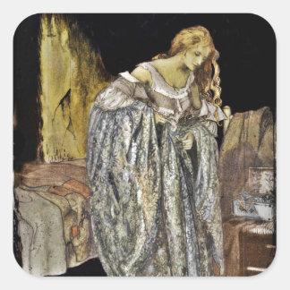 Cinderella in the Attic Square Sticker