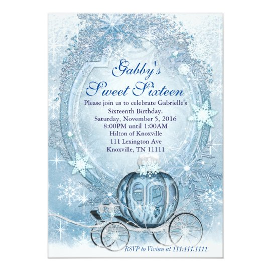 Cinderella Invitation Cinderella Sweet Sixteen Invitation Zazzlecom
