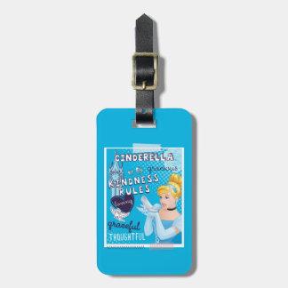 Cinderella - Kindness Rules Bag Tag
