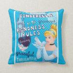 Cinderella - Kindness Rules Throw Pillow