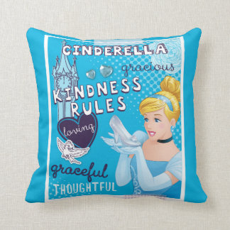 Cinderella - Kindness Rules Throw Pillow