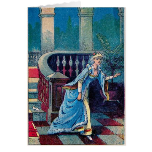Cinderella Loses Her Shoe Greeting Card