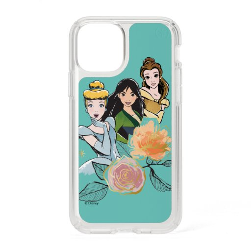 Cinderella, Mulan, & Belle Floral Illustration Speck iPhone 11 Pro Case