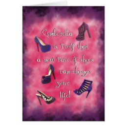 Cinderella - New Shoes Can Change Your Life Card