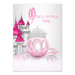 Cinderella birthday invitations announcements zazzle cinderella once upon a time princess birthday card bookmarktalkfo Gallery