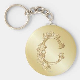 Cinderella Ornate Golden Pattern 2 Keychain