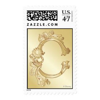 Cinderella Ornate Golden Pattern 2 Postage