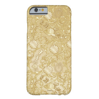 Cinderella Ornate Golden Pattern Barely There iPhone 6 Case