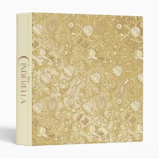 Cinderella Ornate Golden Pattern 3 Ring Binders