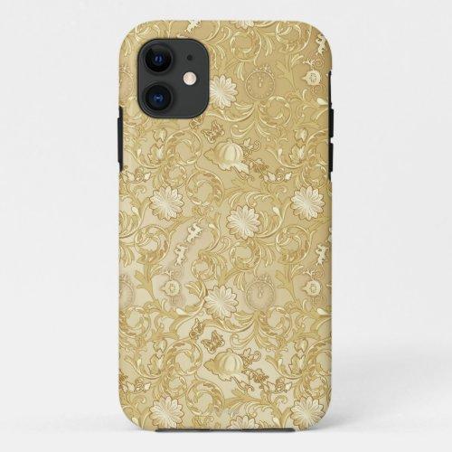 Cinderella Ornate Golden Pattern Phone Case