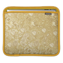 Cinderella Ornate Golden Pattern iPad Sleeve