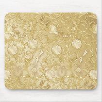 Cinderella Ornate Golden Pattern Mouse Pad