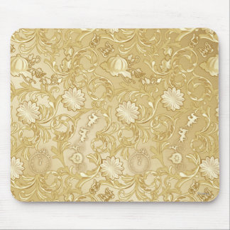 Cinderella Ornate Golden Pattern Mouse Pad