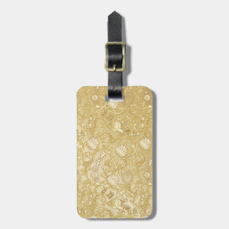 Cinderella Ornate Golden Pattern Tag For Luggage