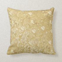Cinderella Ornate Golden Pattern Throw Pillow