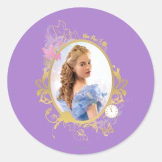 Cinderella Ornately Framed Classic Round Sticker