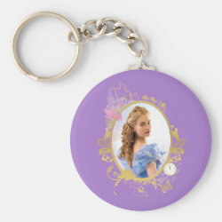Basic Button Keychain with Iconic: Cinderella Framed design