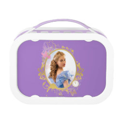 Purple yubo Lunch Box with Iconic: Cinderella Framed design