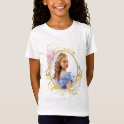 Girls' Fine Jersey T-Shirt with Iconic: Cinderella Framed design