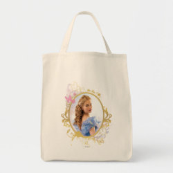 Grocery Tote with Iconic: Cinderella Framed design