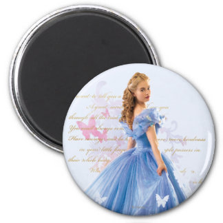 Cinderella Photo With Letter 2 Inch Round Magnet