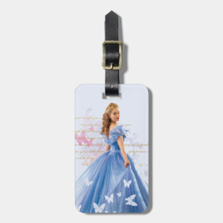 Cinderella Photo With Letter Luggage Tag
