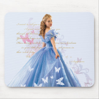 Cinderella Photo With Letter Mouse Pad