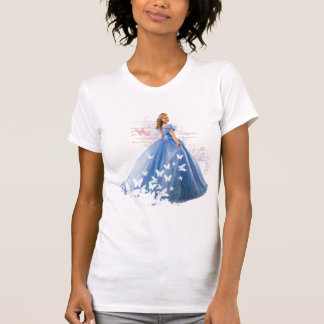 Cinderella Photo With Letter Tee Shirt