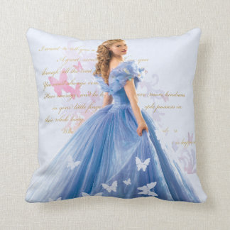 Cinderella Photo With Letter Throw Pillow