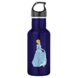 Water Bottle (24 oz) with Starry Night Princess Cinderella design