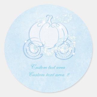 Cinderella Princess Blue Carriage Elegant Sticker