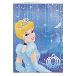 Greeting Card with Starry Night Princess Cinderella design