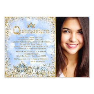 Cinderella Princess Carriage Photo Quinceanera Card
